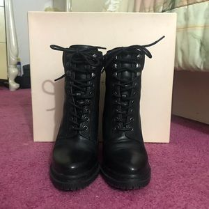 BCBGeneration Heeled combat boots - Maude in Black